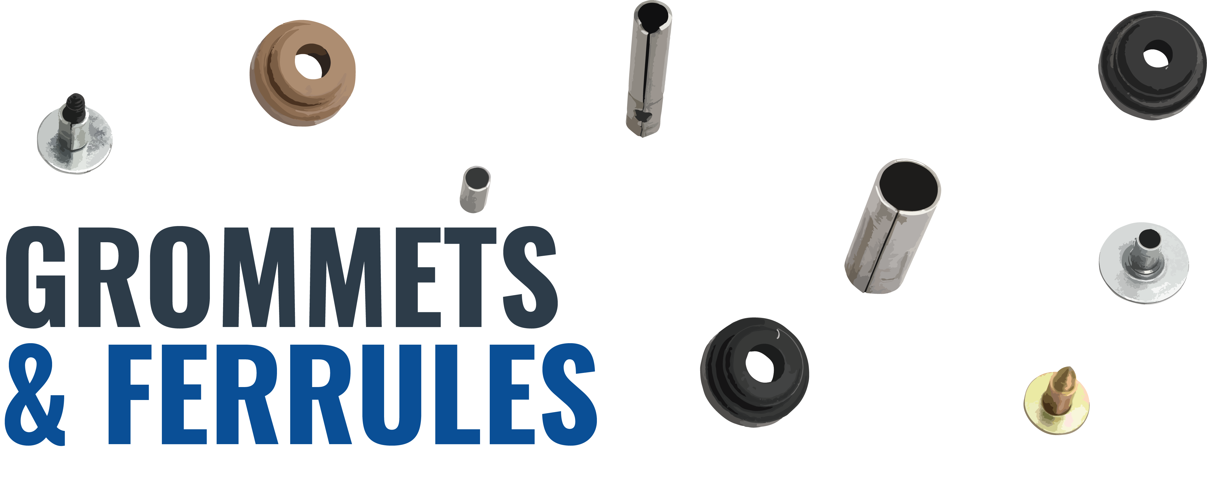 Rubber Grommet & Ferrule Options for Triangle's Motor Mount Bracket Arms