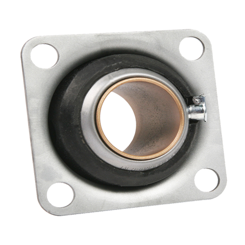 "Sintered Bronze with Stamped Steel Ball 4 Bolt Flange Bearing, 16 Gauge  - 1  1/4 "", part number 3668, FE Series, primary image"
