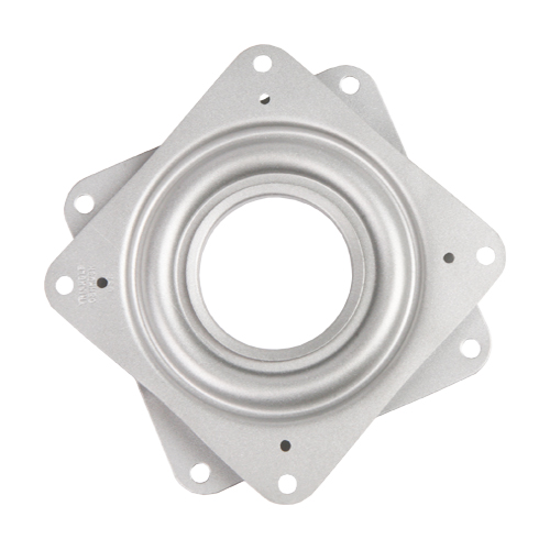 "Galvanized Steel Square Lazy Susan Turntable Bearing, 22 Gauge  - 3"", part number 3C, 3LS Series, primary image"