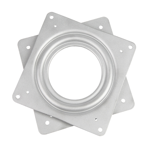 "Galvanized Steel Square Lazy Susan Turntable Bearing, 20 Gauge  - 4"", part number 4C, 4LS Series, primary image"
