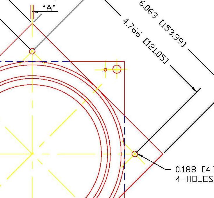 "Galvanized Steel Square Lazy Susan Turntable Bearing, 22 Gauge  - 6"", part number 6C, 6LS Series, thumbnail 3"""