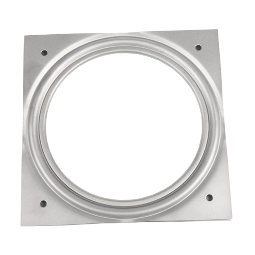 "Galvanized Steel Square Lazy Susan Turntable Bearing, 22 Gauge  - 6"", part number 6C, 6LS Series, primary image"