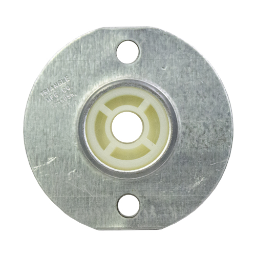 "Molded Nylon 2 Bolt Flange Bearing, 16 Gauge  -   3/8 "", part number CKN6, CK Series, primary image"
