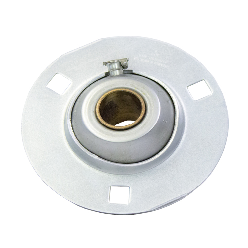 "Sintered Bronze with Stamped Steel Ball 3 Bolt Flange Bearing, 14 Gauge  -   3/4 "", part number EEE12K, EE Series, primary image"