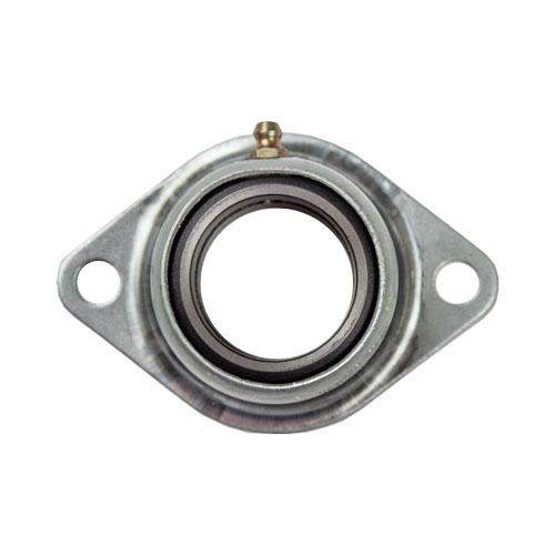 Cast - Machined Iron Bearing Ball 2 Bolt Flange Bearing, 16 Gauge - 1 3/8""