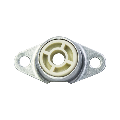 "Molded Nylon 2 Bolt Flange Bearing, 16 Gauge  -   1/4 "", part number FMN4, FM Series, primary image"