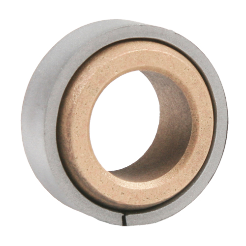Sintered Bronze Bearing Ball Spherical Plain Bearing with Ring, 13 Gauge - 1""
