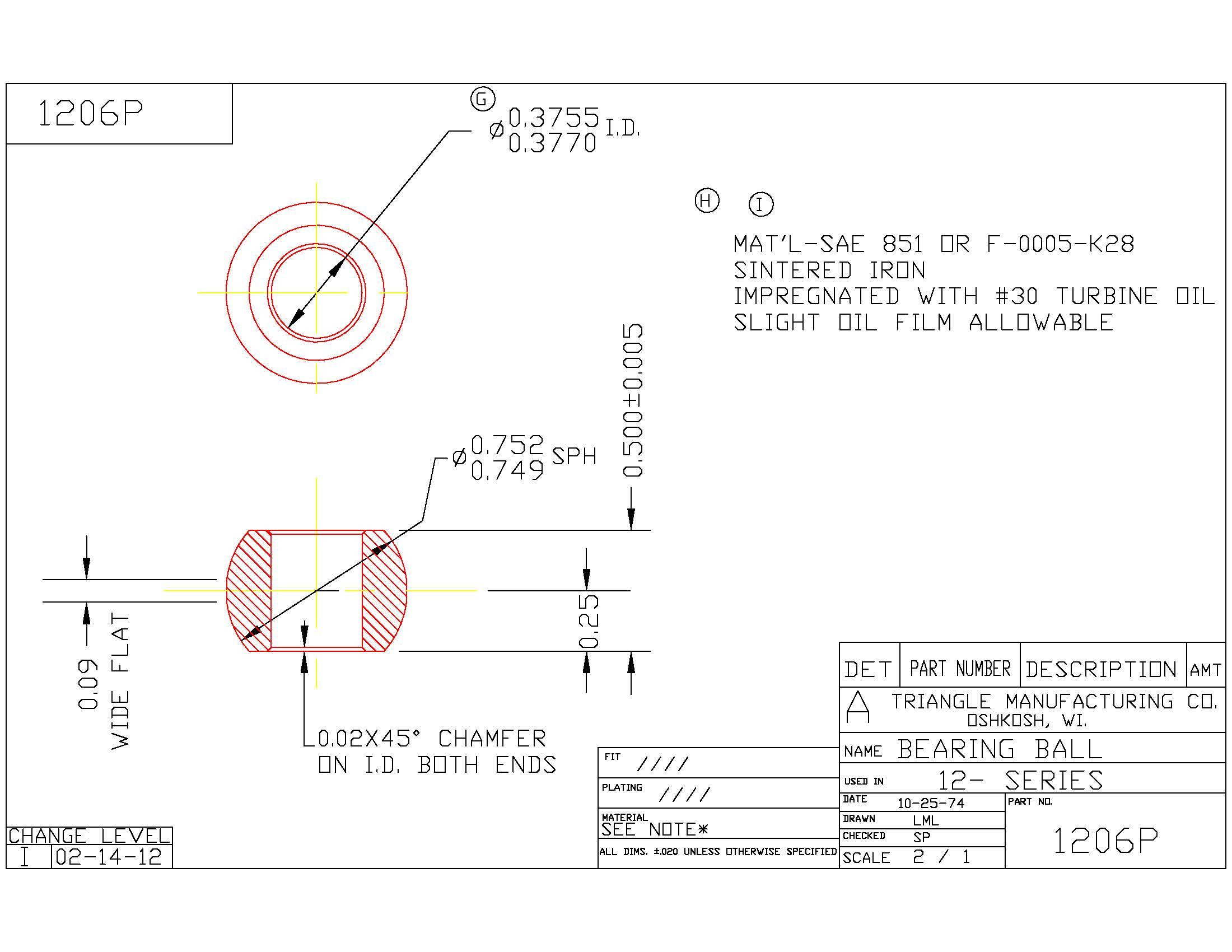 Spherical Plain Bearing 1206P