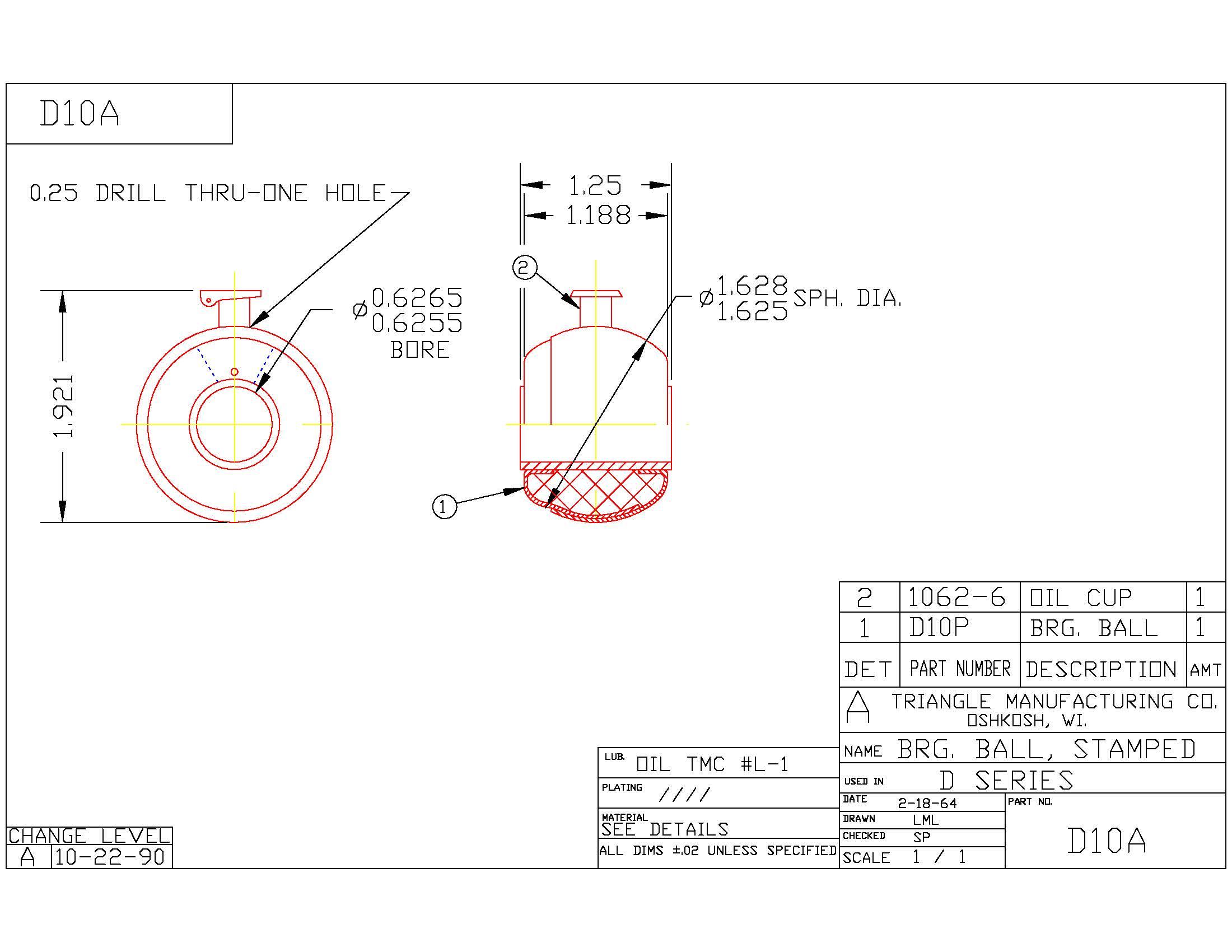 Spherical Plain Bearing D10A