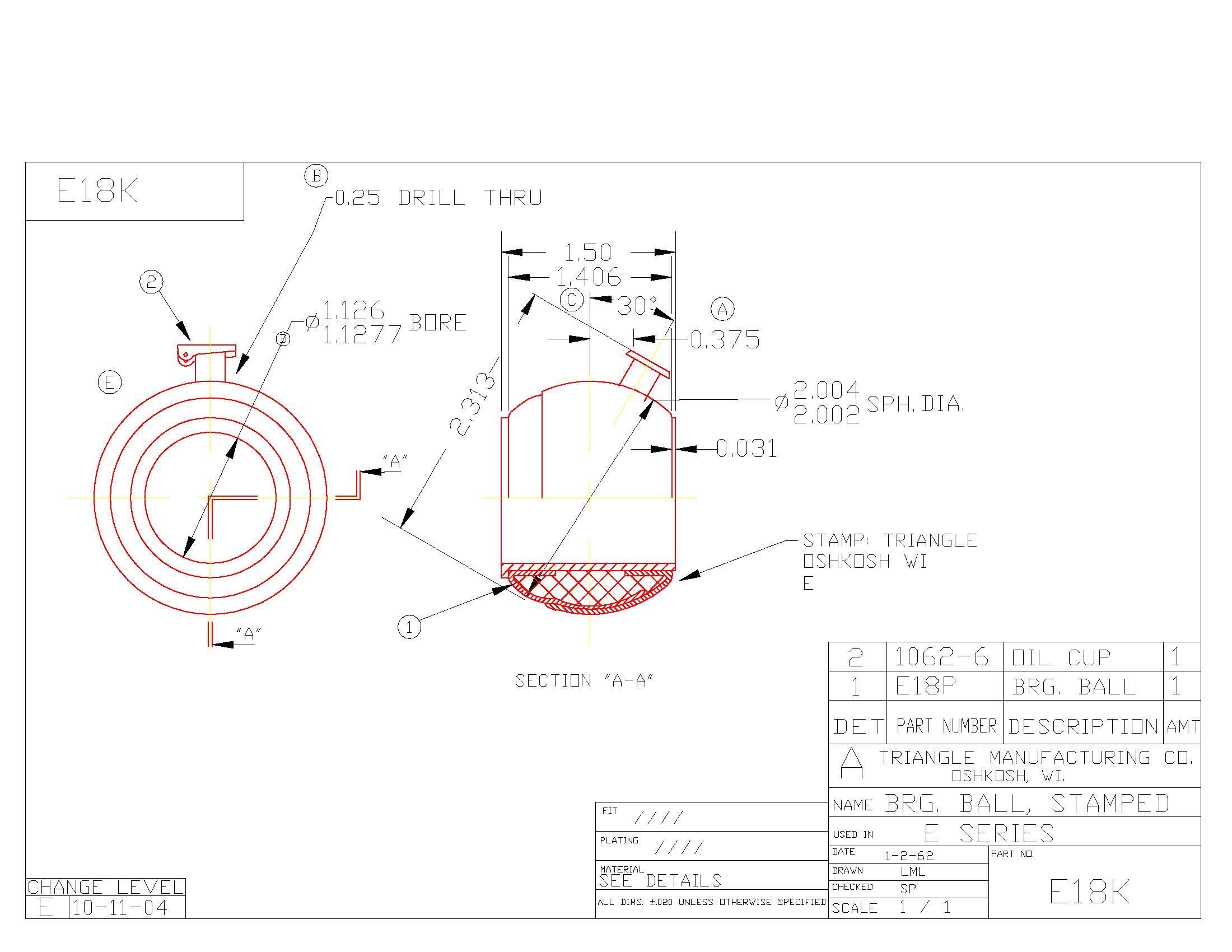 Spherical Bearing E18K