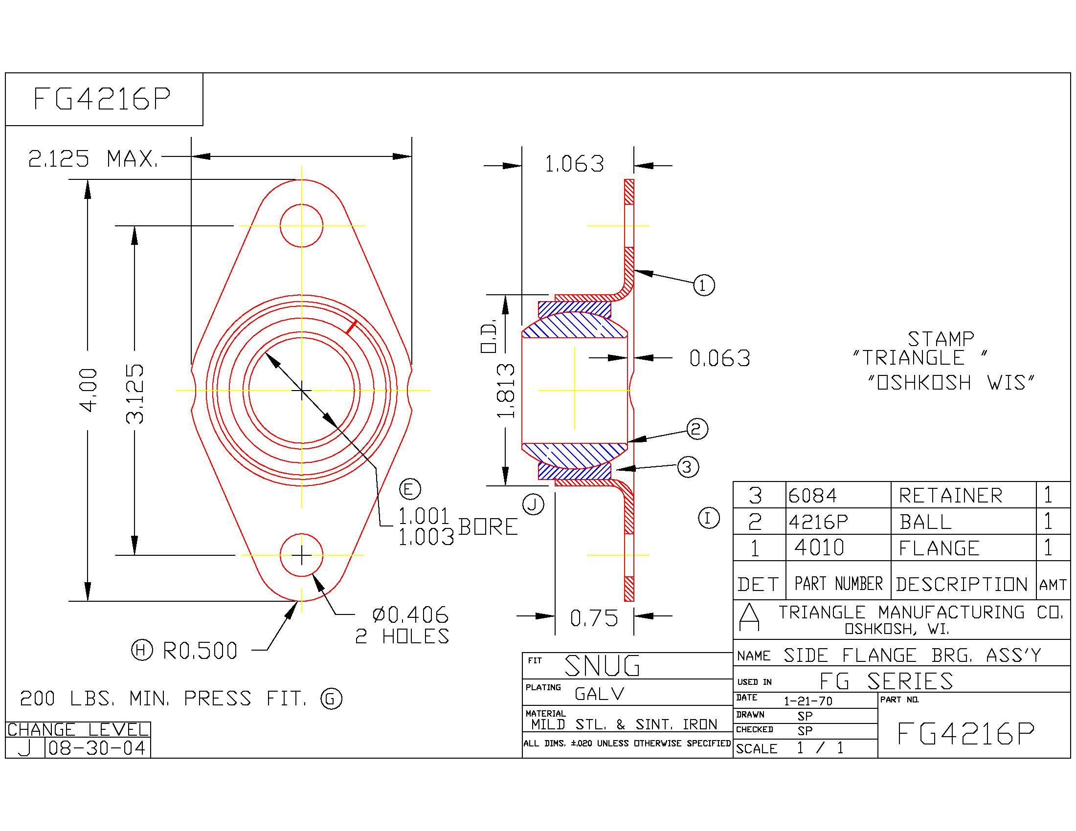 Flange Bearing FG4216P