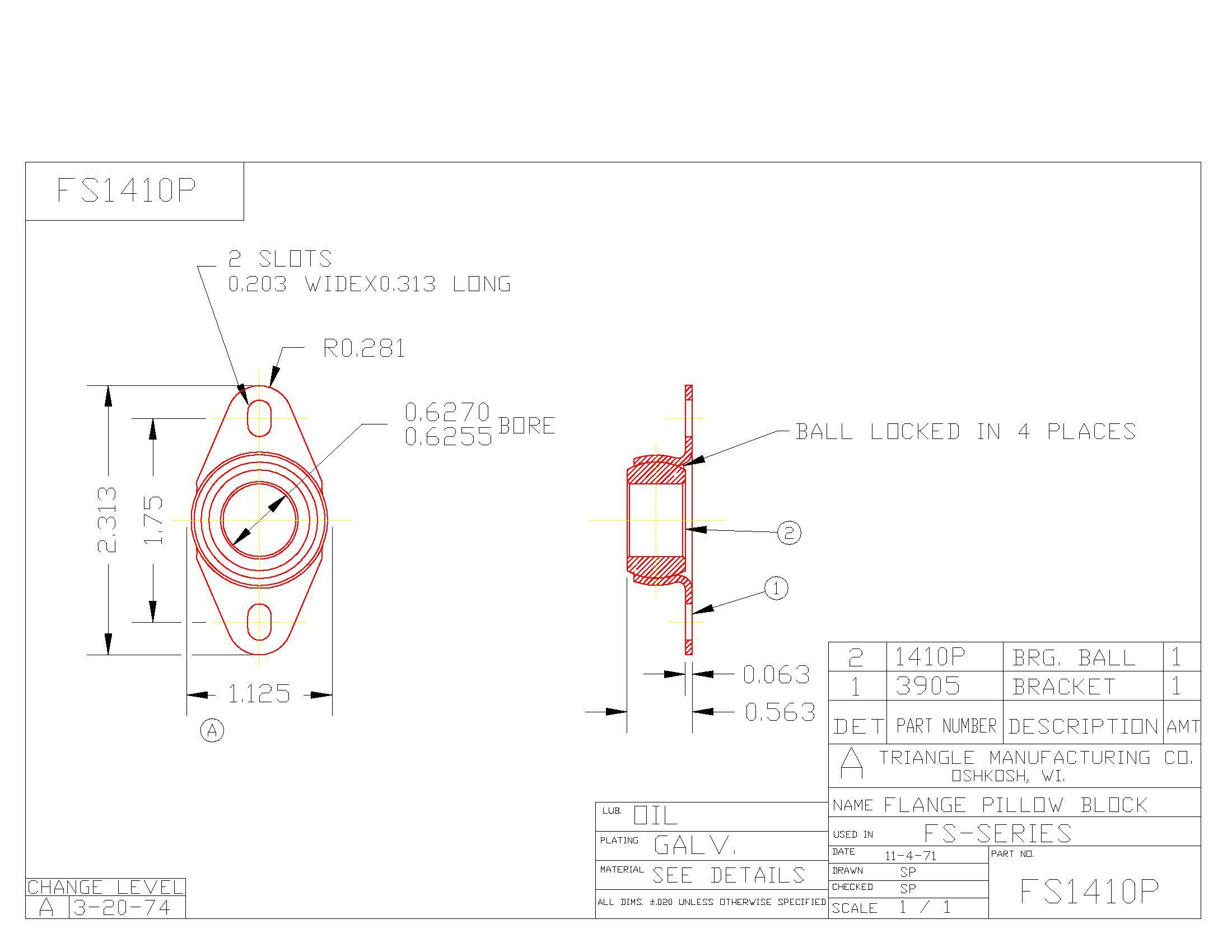 Flange Bearing FS1410P