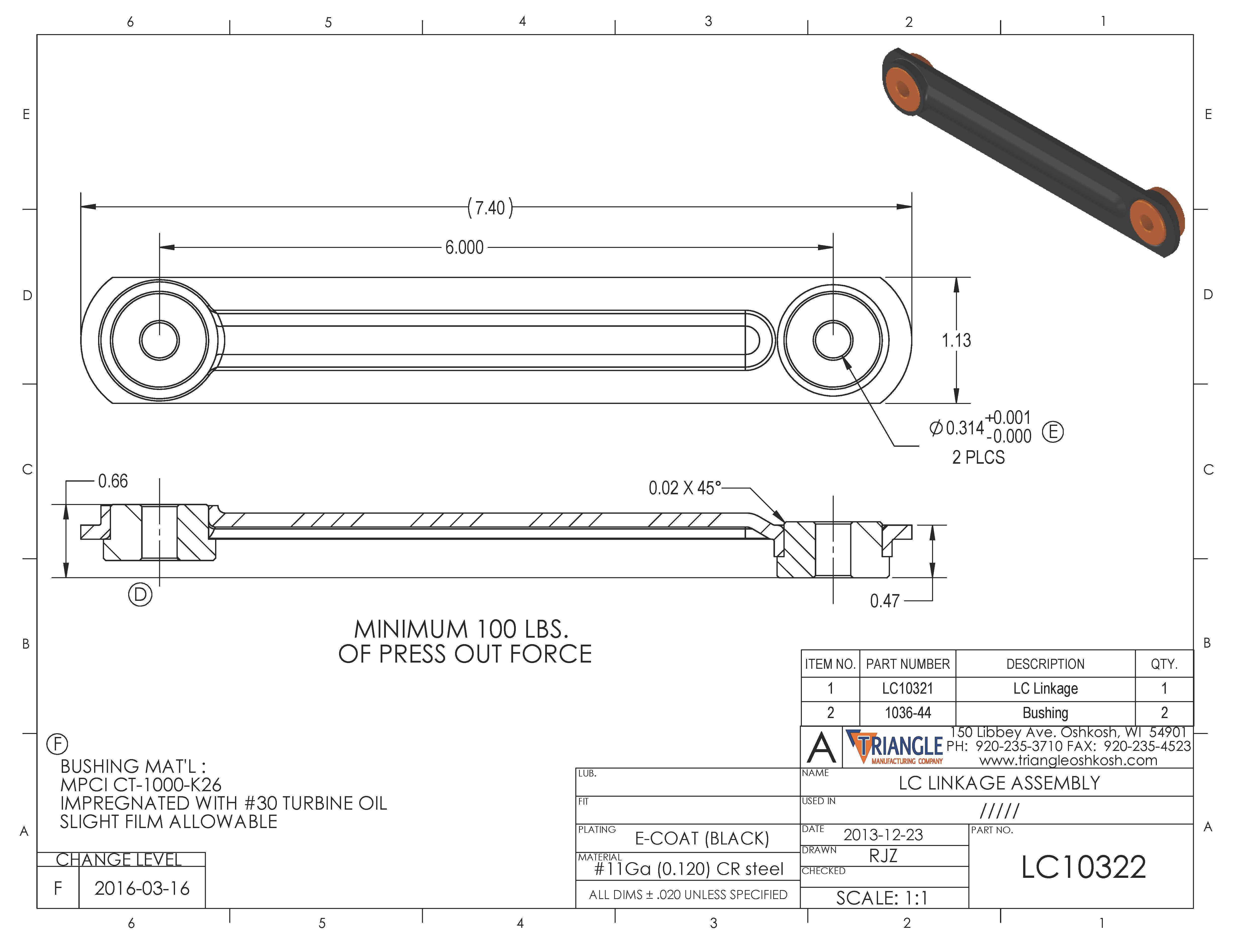 Linkage Assembly LC10322